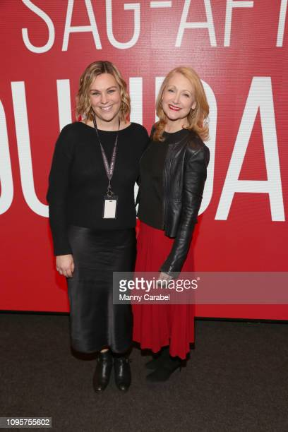 Mara Webster and actress Patricia Clarkson attend the SAGAFTRA Foundation Conversation 'Sharp Objects' at The Robin Williams Center on January 17...