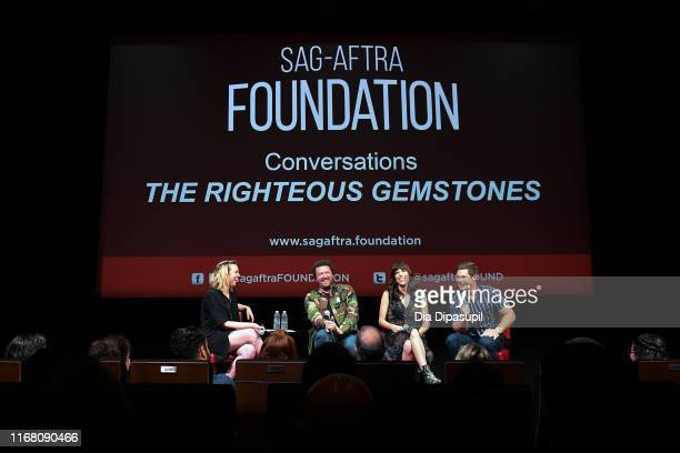 Mara Webster interviews Danny McBride Edi Patterson and Adam DeVine at SAGAFTRA Foundation Conversations The Righteous Gemstones at The Robin...