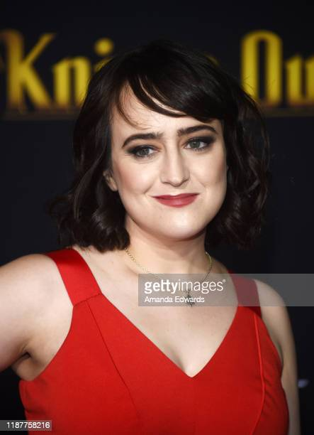 "Mara Wilson arrives at the premiere of Lionsgate's ""Knives Out"" at the Regency Village Theatre on November 14, 2019 in Westwood, California."
