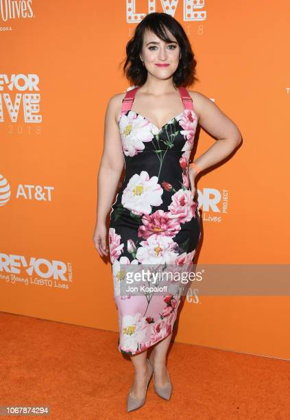 Mara Wilson attends The Trevor Project's 2018 TrevorLIVE LA Gala at The Beverly Hilton Hotel on December 2, 2018 in Beverly Hills, California.