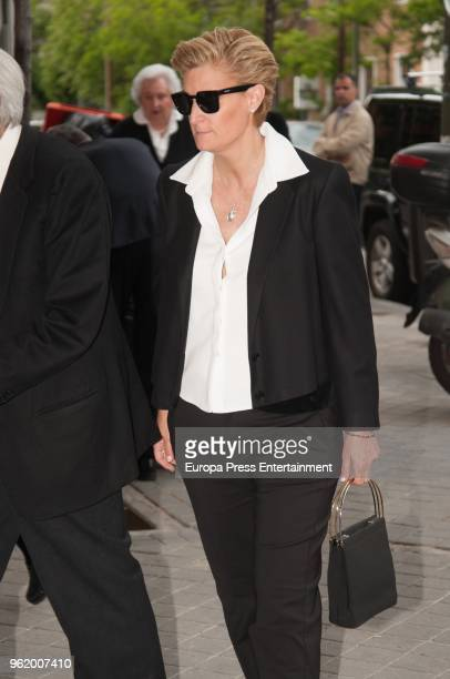 María Zurita attends funeral chapel for Alfonso Moreno De Borbon cousin of King Felipe VI who died at 52 years old on May 23 2018 in Madrid Spain