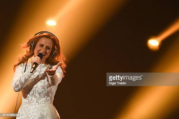 Maraaya of Slovenia performs on stage during the second Semi Final of the Eurovision Song Contest 2015 on May 21, 2015 in Vienna, Austria. The final...