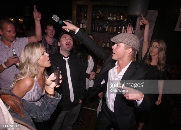 Marabeth Hough Derek Hough and Julianne Hough attend Kelly Osbourne's birthday party held at hwood on October 26 2009 in Hollywood California