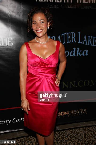 Marabina Jaimes attends cougar style soiree hosted by Cougar Town star Carolyn Hennesy at Hotel Palomar on August 18 2010 in Los Angeles California