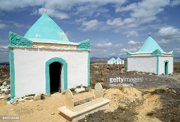 Marabout tombs in a cemetery near Tasslemt, Algeria.