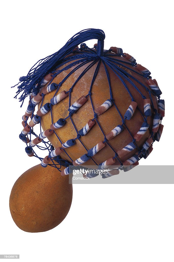 Maraca with decorative net and tassel : Stockfoto
