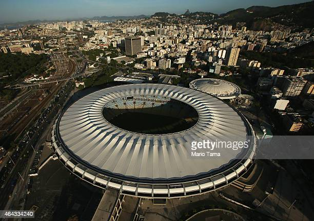 Maracana Stadium, a Rio 2016 Olympic Games venue, is shown on February 24, 2015 in Rio de Janeiro, Brazil. The city of Rio continues to prepare to...