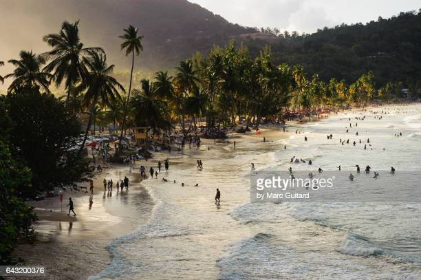 maracas beach, trinidad,  trinidad & tobago - trinidad and tobago stock pictures, royalty-free photos & images