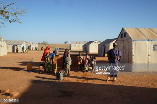 Maradi Refugee Settlement, Southern Niger. December 12, 2019. A family who fled violence in northern Nigeria now live in a UN-supported camp near...