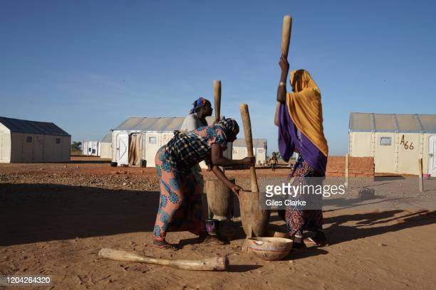 Maradi Refugee Settlement, Southern Niger. December 12, 2019. Nigerian women who fled violence in northern Nigeria now live in a UN-supported camp...