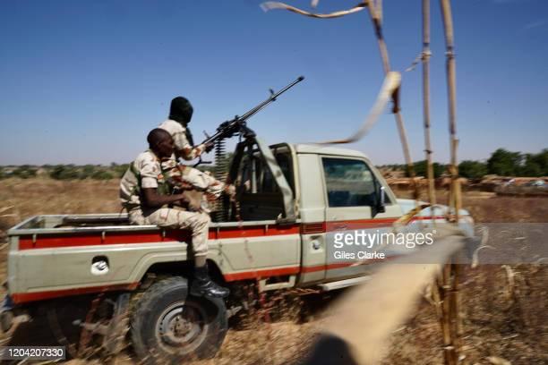 Maradi,Niger. December 12, 2019. Niger Army troops on patrol near the Nigerian border in South Niger.