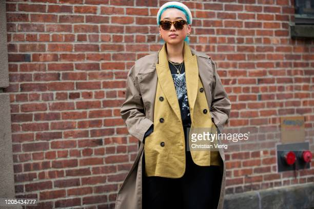 Maragret Zhang is seen outside Zimmermann during New York Fashion Week Fall / Winter on February 10, 2020 in New York City.