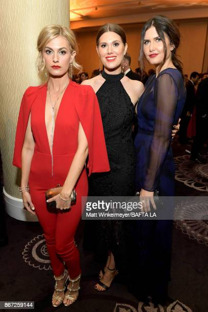 Marah Fairclough Charlotte Rothwell and Amber Hodgkiss attend the 2017 AMD British Academy Britannia Awards Presented by American Airlines And Jaguar...