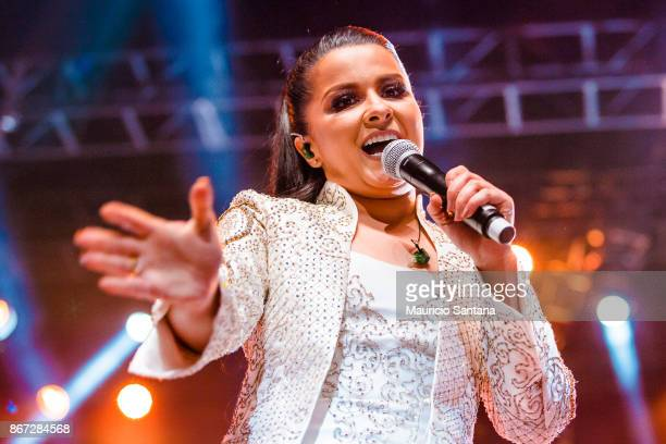 Maraisa member of the duo Maiara and Maraisa performs live on stage at Citibank Hall on October 27 2017 in Sao Paulo Brazil