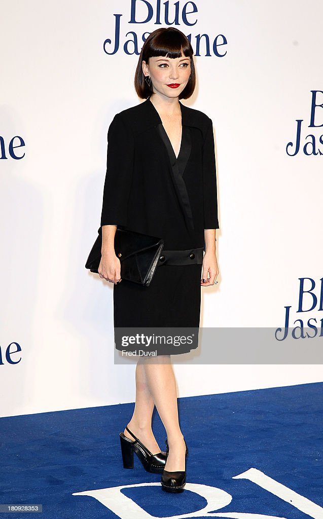 Marama Corlett attends the UK premiere of 'Blue Jasmine' at Odeon West End on September 17, 2013 in London, England.