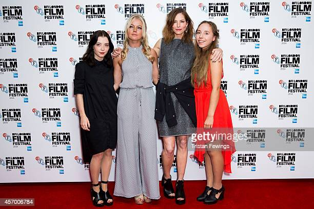 Marama Corlett Hannah Spearitt Sienna Guillory and Rosa French attend the red carpet arrivals of 'The Goob' during the 58th BFI London Film Festival...