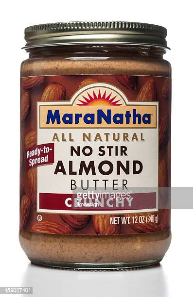 Maranatha No Stir Almond Butter Crunchy spread jar