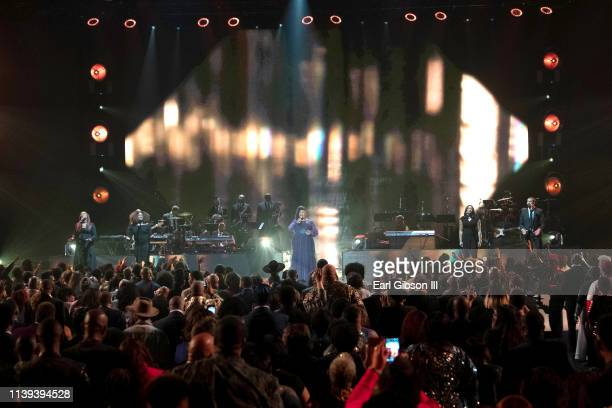Maranda Curtis performs during the 34th annual Stellar Gospel Music Awards at the Orleans Arena on March 29 2019 in Las Vegas Nevada