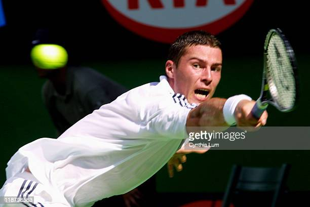 Marat Safin of Russia defeats Tommy Haas of Germany 67 76 36 60 62 in the Men's Singles Semifinals of the 2002 Australian Open