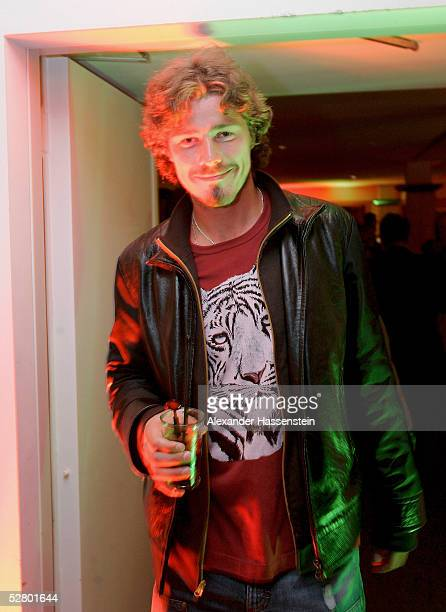 Marat Safin of Russia relaxes at the Players Night at the Royal Meridian Hotel Hamburg during the Masters Series Hamburg at Rothenbaum on May 11 2005...