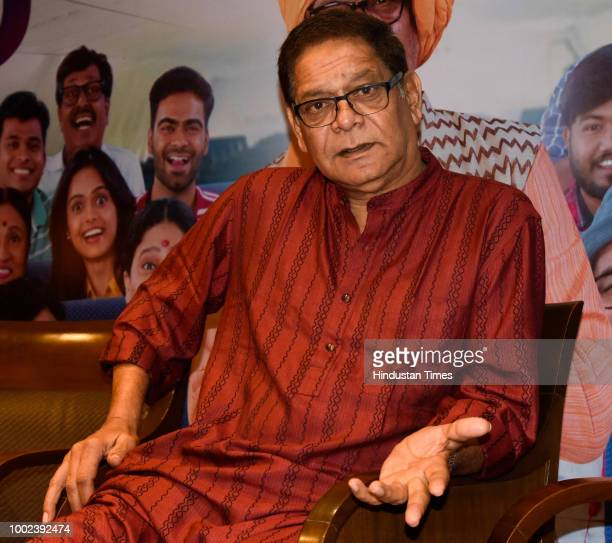 Marathi and Bollywood actor Mohan Joshi poses during an exclusive interview Hindustan Times on July 18 2018 in Pune India