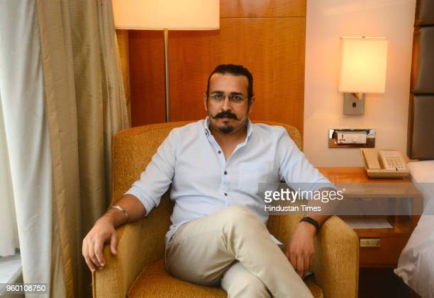 Marathi movie director Tejas Prabha Vijay Deoskar poses during an exclusive interview with Hindustan Times for the promotion of Marathi movie 'Bucket...