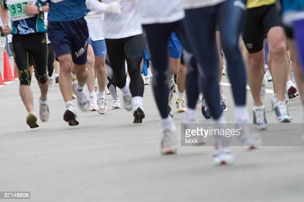 Marathon Athletes, blurred motion