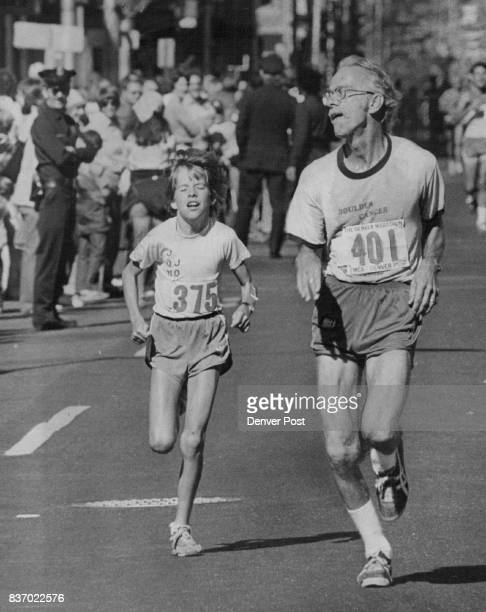 Marathon contestants were in all shapes sizes and ages as evidenced by 12yearold John Raveling of Lakewood Paul Jedamus of Boulder 55 Credit Denver...