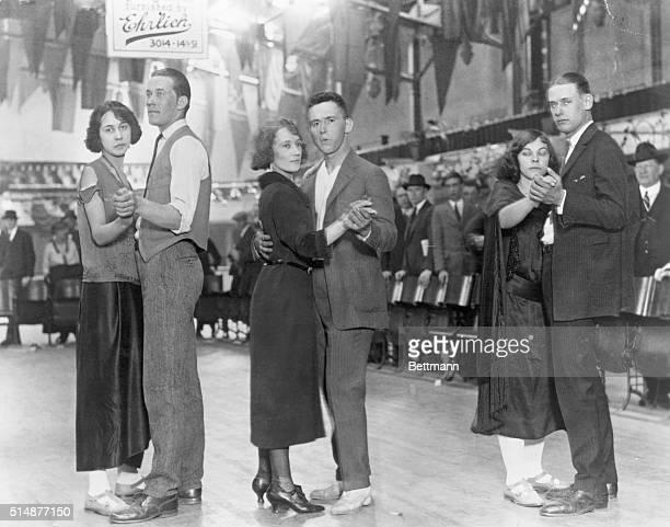Marathon dancers in Washington ballroom at the 40 hour mark Photograph April 20 1923