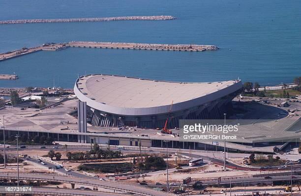 Marathon Of Work Before The Beginning Of Athens Olympic Games Trois mois avant le début des Jeux olympiques d'été d'ATHENES 2004 les travaux des...