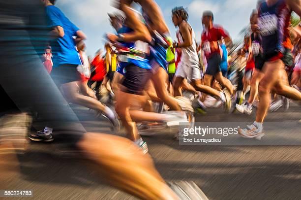 Marathon run, Paris