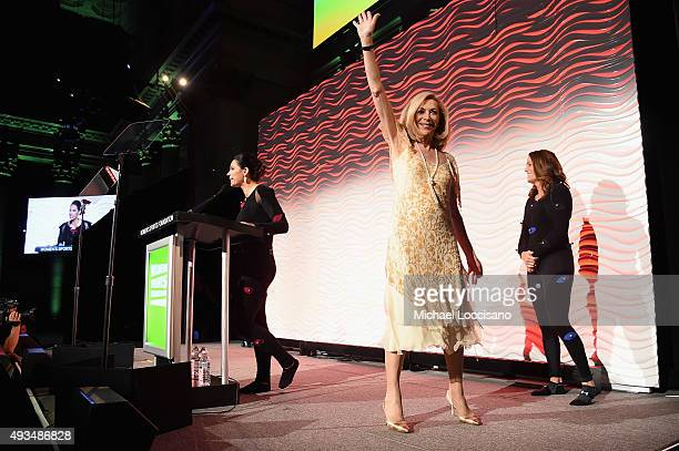 Marathon Runner Kathrine Switzer poses onstage at the 36th Annual Salute to Women In Sports at Cipriani Wall Street on October 20 2015 in New York...