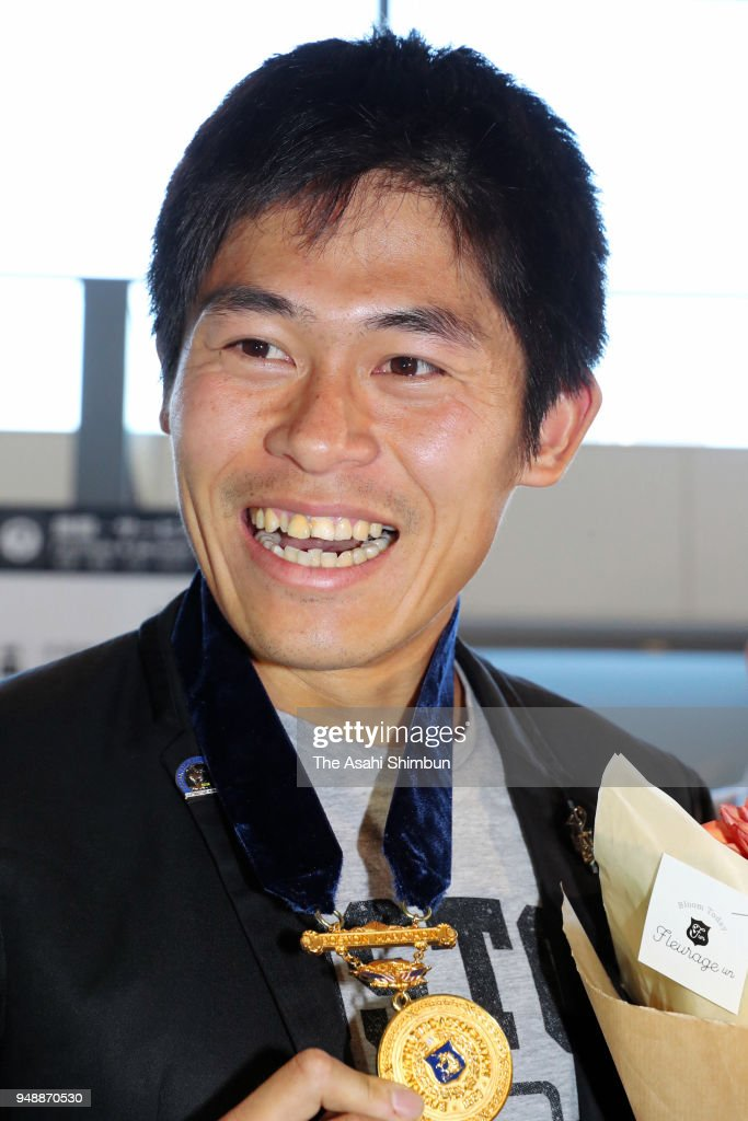 Marathon Runner Yuki Kawauchi Returns Home
