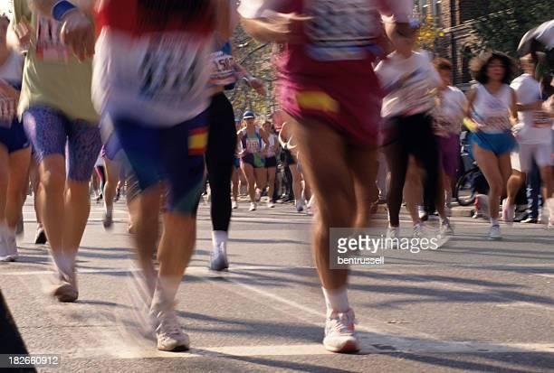 Marathon Runners In NYC
