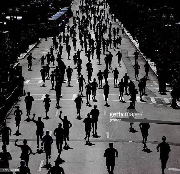 Les coureurs du Marathon