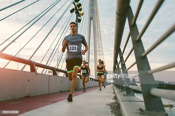marathon runners. - marathon stock pictures, royalty-free photos & images