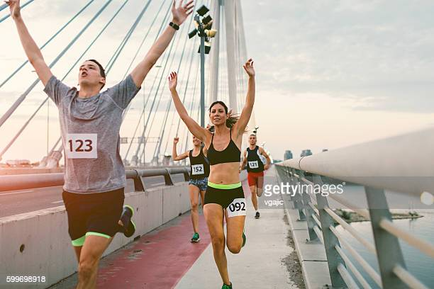 marathon runners. - closing stock photos and pictures