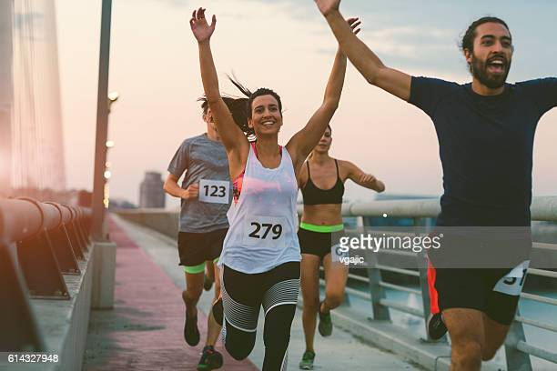 marathon runners. - sports race stock pictures, royalty-free photos & images