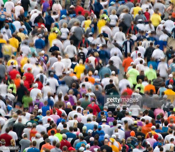marathoners in motion
