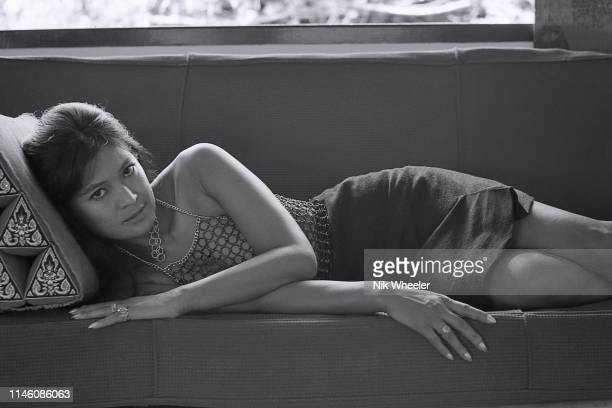 Marayat RolletAndriane Thai actress and author of Emmanuelle which she wrote with her husband under name of Emmanuelle Arsanreclines at home in...