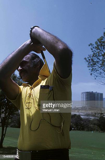 Marbella August 1973 The Clinic for billionaires 'Incosol' the actor Sean Connery in a round of golf It is equipped with a miniature transmitter an...