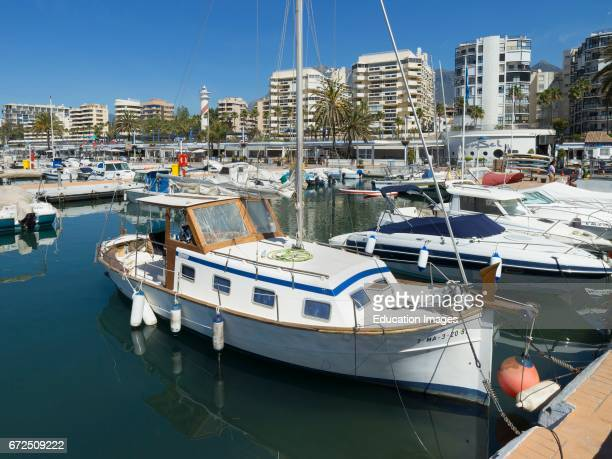 Marbella Costa del Sol Malaga Province Andalusia southern Spain Sports Port Puerto Deportivo Luxury yachts