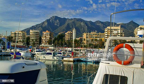 marbella port - bavosi stock photos and pictures