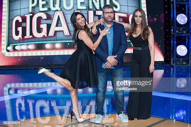 Marbelys Zamora Florentino Fernandez and Monica Naranjo attend the 'Pequenos Gigantes' presentation at Picasso Studios on July 16 2015 in...