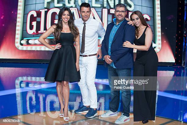 Marbelys Zamora Jesus Vazquez Florentino Fernandez and Monica Naranjo attend the 'Pequenos Gigantes' presentation at Picasso Studios on July 16 2015...