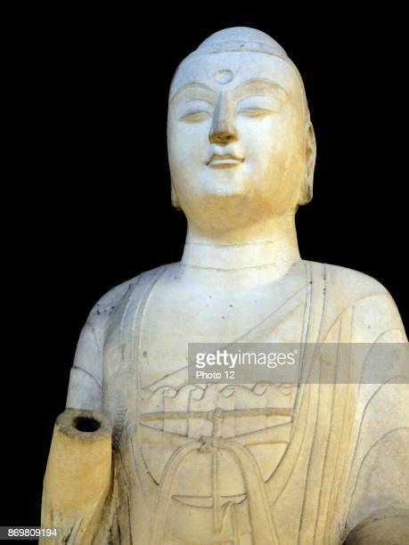Marble Amitabha Buddha from the Sui dynasty Dated 6th Century