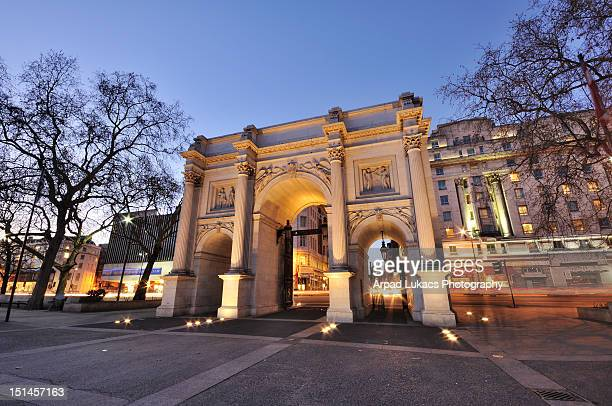 marble arch in london - hyde park london stock photos and pictures