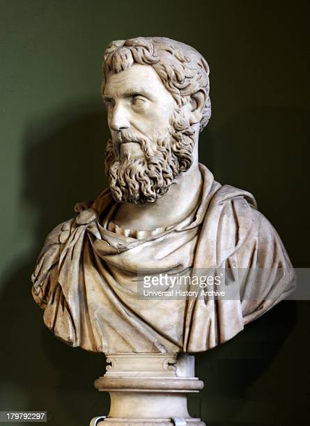 Marble bust of a Roman possibly emperor pertinax