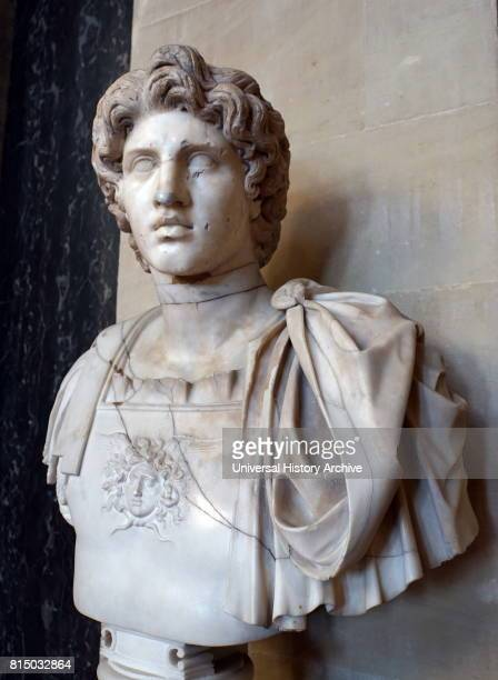 Marble bust of Alexander the Great English 18th century copy of a Greek or Roman original