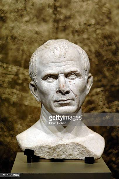 Marble bust of Julius Caesar dating to the 46 BC was discovered in the River Rhone near Arles France in 2007